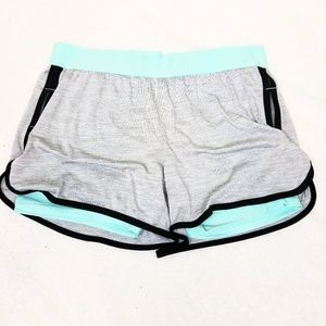 Layered Heathered Athletic Dolphin Shorts
